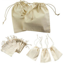 12pcs Jute Linen Burlap Drawstring Candy Jewelry Pouches  Gift Favour Bag NEW