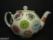 1 Heron Cross Pottery Buttons Chintz English 3 Cup Tea Pot or 2 mugs