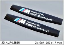 2x ///M BMW Powered by BMW Motorsport 3D Logo Aufkleber-Abzeichen Set M1 M3 M5.