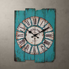 Retro Vintage Rustic Wall Clock Shabby Chic Home Office Coffeeshop Bar Decor