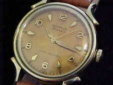 Sharp Looking Vintage Benrus With Tropical Dial And Fancy Lugs 21 Jewels