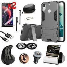 Kickstand Case Cover Wireless Earphones Accessory Bundle For HTC Desire 10 Pro