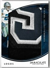 EZEKIEL ELLIOTT 2016 IMMACULATE COLLECTION ROOKIE TEAM LOGO RC PATCH CARD #1/20!
