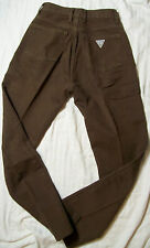 Vtg Guess High Waisted Mom Jeans Brown Denim 26 Style 43050 ALG Pocket Triangle