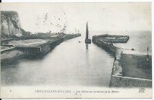 CPA 76 - SAINT-VALÉRY-EN-CAUX - Los Piers a moment de la marea