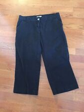 Magellan Black Misses Size 6 Cropped Capri Pants