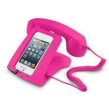 Retro Handset Dock - Compatible with Most Smartphones in Pink