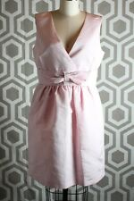 NWT Red Valentino Abiti Donna Pale Rose Pink Bow Front Dress EU 44 US 6