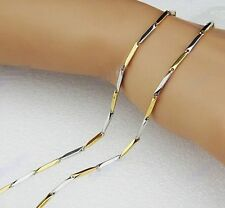 thin chain for women silver gold tone 316l stainless steel shinny necklace 19.6""