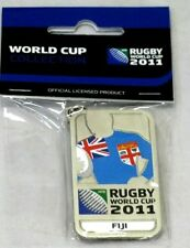 33653 RUGBY WORLD CUP 2011 FIJI SILVER JERSEY FLAG KEYRING KEY RING