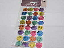 Scrapbooking Crafts Sticker Pack Stickos Smiley Colorful Happy Faces Repeats