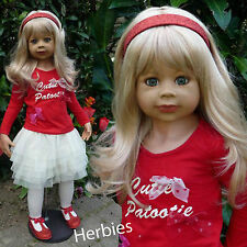 "Masterpiece Cutie Patootie Blonde, Monika Levenig 39"" Vinyl Doll,  In Stock"