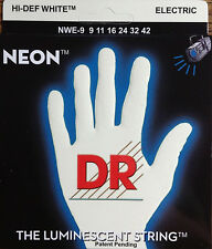 DR Handmade NWE-9 Neon White Electric Guitar Strings 9-42