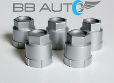 5 NEW SILVER LUG NUT COVERS CAPS CHEVROLET GMC BUICK OLDSMOBILE PONTIAC