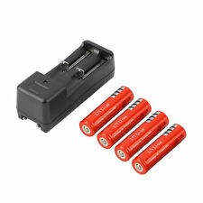 4pcs 18650 5000mAh 3.7V Li-ion Rechargeable Battery + Smart Charger EU Plug LO