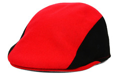 Kangol Tipped 507 Ivy Cap Hat $46 Red & Black Premium Quality Size M