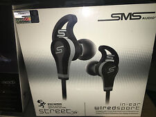 SMS Audio SMS-EB-SPRT-BLK STREET by 50 Wired In-Ear Sport Earbuds Black
