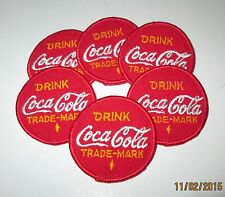 Coca Cola Patches ~ Lot of 6