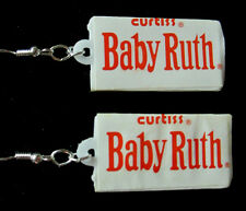 Unique BABY RUTH  CHOCOLATE CANDY BAR 925 EARRINGS Handcrafted GIFT nora winn