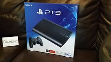 Sony PlayStation 3 Super Slim 500GB Charcoal Black System Console PS3 NEW SEALED