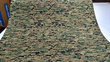 "72"" WOODLANDS MARPAT MILITARY CAMOUFLAGE AUTO HEADLINER FABRIC 3/16"" FOAM BACKED"