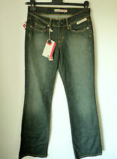 DUCK & COVER DARK GREY HIPSTER JEANS   UK 8L  RRP £57    BNWT
