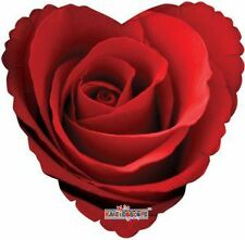 "18"" Heart RED ROSE Love Valentines Flower Birthday Party Mylar Balloon"