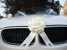 IVORY  Wedding Car Decoration Kit 1 Large Bow & 7 Metres of Ribbon FAST&FREEPOST