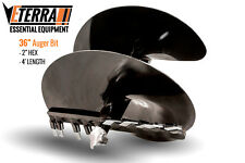 "Eterra Auger Bit - 36"" - Fits Skid Steer, Excavator & Mini Skid Auger Attachment"