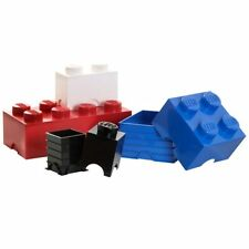 LEGO Storage Brick 1 Manopola Bianco Camera da letto bambini giocattolo di archiviazione 100% OFFICIAL GRATIS P + P