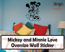 Walt Disney - Mickey & Minnie Love Cartoon Logo Wall Vinyl Sticker