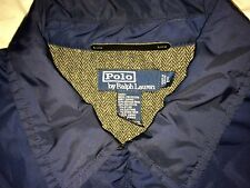 Ralph Lauren Navy Rugby Blue Quilted Jacket Tweed Herringbone Inside hm