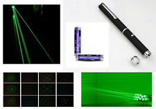 Green Laser Pointer - Intense Beam - FREE Kaleidoscope Lens Cap + FREE Batteries