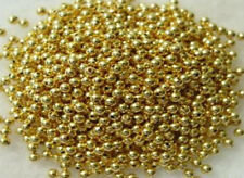100 GOLD PLATED ROUND SMOOTH BEADS 4MM