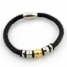 Leather Bracelet Stainless Steel Magnetic Clasp 6MM Premium Quality Range LB65