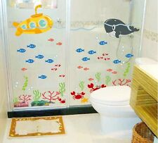 Asmi Collection Pvc Wall Stickers Wall Decals Fish In Sea For Bathroom