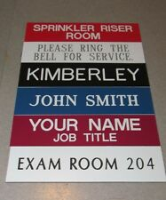 "Custom Engraved Personalized Plastic Desk or Wall Name Plates : 2""x8""  Best Deal"