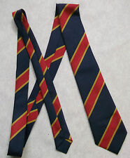 NEW GREY RED GOLD STRIPED TIE MENS NECKTIE OLD SCHOOL COLLEGE STRIPES VINTAGE