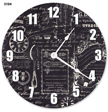 """10.5"""" FADED VINTAGE CLOCK - Large 10.5"""" Wall Clock - Home Décor Clock - 3104"""