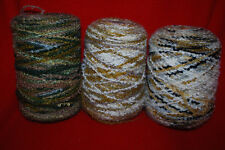 Multi-Colored Weaving  Yarn Loom  Nubby Texture Looped  3Lbs. Free Shipping Y3
