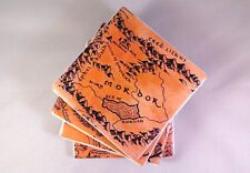Middle Earth Map Tile Coasters. Hobbit / Lord of the Rings Inspired. Felt Backed