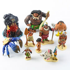 10pcs/set Disney Souvenir Moana PVC Action Figure Toy Maui Pua Heihei Doll