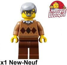 Lego - Figurine Minifig Grandfather grand père papy old men lunette cty659 NEUF