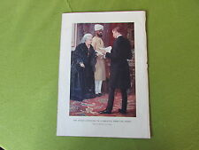 Queen VICTORIA Listening to Despatch from Front  Vintage BOER War print c1900