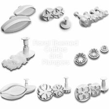18pc Floral Themed Collection of Sugarcraft Fondant Plungers Cutters Tools