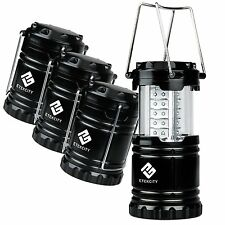 Etekcity 4PCS Portable Outdoor Collapsible LED Camping Lantern 12AA Batteries