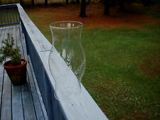 PRETTY ETCHED GLASS HURRICANE SHADE FOR CANDLES /  OIL/ KEROSENE LAMP