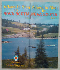 1963 Where to Stay in Nova Scotia Canada booklet b