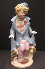 Grand lladro clown avec chiots figurine en gres finition. 25.5cm de hauteur. #2290