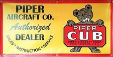 PIPER CUB AIRPLANE AIRCRAFT HORIZONTAL SIGN REMAKE OLD SCHOOL BANNER ART 2X4